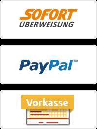 Sofort Überweisung | Paypal | Vorkasse